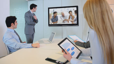 Video conferencing for recruitment.